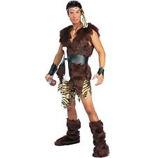 Mens Caveman King Costume Stone Age Barbarian Warrior Halloween Party Outfit