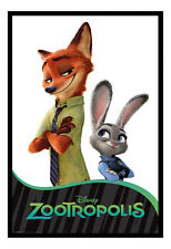 Zootropolis Characters Framed Cork Pin Notice Board With Pins