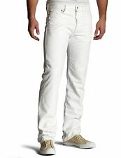 New Levi's Mens 501 1014 Button Fly Straight Painter White Denim Jeans 34 X 32