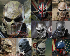 Airsoft Full Face Mask Outdoor COS Paintball CS Riding War Game Metal Mesh Eye