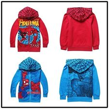 Kids Boys Spiderman Hoodies Cotton Long Sleeve Jacket Coat Outwear Clothes New