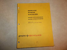 New Holland Sperry TR75 TR85 Combine Parts Catalog Manual Issue 11-83 Owners IH1