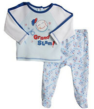 Absorba Baby Boys' 2 Piece Blue Baseball Themed Layette Play Set