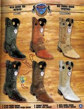 Wild West Men's Rodeo Toe 1/2 Vamp Ostrich Cowboy Western Boots Diff.Colors