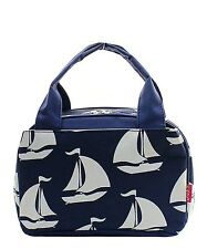 Sailboat Insulated Lunch Box-Lunch Tote Bag-Navy- Lunch Bag-Back to school