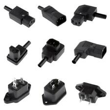 IEC C13 C14 Female Male AC Socket Plug Connector Adapter Power Outlet Receptacle