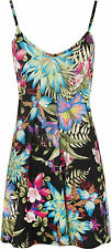 New Plus Size Womens Floral Print Strappy Sleeveless Swing Dress Ladies Long Top