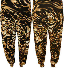 New Womens Plus Size Abstract Print Baggy Ladies Harem Pants Trousers