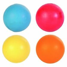 New Trixie Pack of 4 Balls, Natural SOLID Rubber Dog Ball - 5cm 6cm 7cm Or 8cm