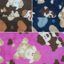 Fluffy Sheep Spots Hearts Double Sided Super Soft Cuddle Fleece Fabric