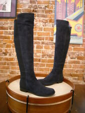 Marc Fisher Monica Navy Blue Suede & Stretch Over the Knee Boots NEW
