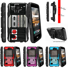 For LG K3  Rugged Holster Clip Stand Case Game Controller