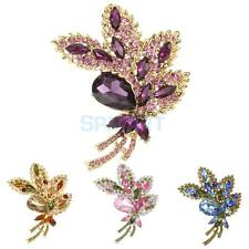 Wedding Brooch/Pin Crystal Rhinestone Diamante Flower Bow Jewelry Choose Colour