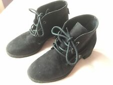 new look girls black ankle boots, size 4