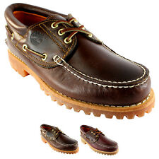 MENS TIMBERLAND HERITAGE CLASSIC LUG LEATHER LACE UP BOAT SHOE ALL SIZES