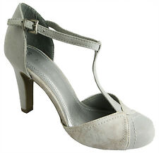 Marco Tozzi 2-24405-36 Womens Quartz Buckle Strap Closed Toe High Heel Shoes New