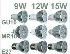 Ultra Bright CREE MR16/GU10/E27 9W 12W 15W Warm Cool LED Spotlight Bulbs