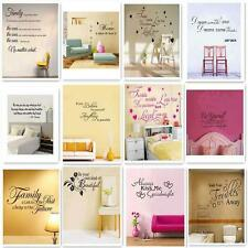 Removable Art Vinyl Wall Sticker Decal Mural Home Room Decor Quote Word Poem s5