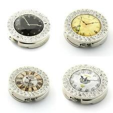 Watch Dial Plate Rhinestone Purse Handbag Table Hook Purse Hanger Holder Gift