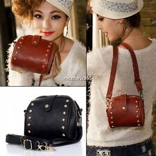 Women Satchel Casual Shoulder Bag Messenger Bag Rivet Bag Ladies Handbag N4U8