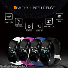 Bluetooth Smart Bracelet Sports Watch Heart Rate Call/SMS Sync For Android IOS