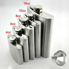 Stainless Hip Liquor Whiskey Alcohol Pocket Flask+Funnel+Cup Gift  MO