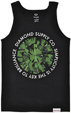 Diamond Supply Co Diamond Simplicity Tank Top Regular fit in Black/Green. S-3XL.