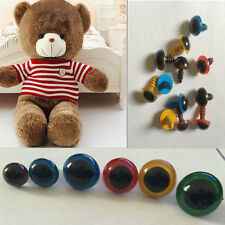 100Pcs 8mm Color Plastic Safety Eyes For Teddy Bear Doll Animal Puppet Craft EF