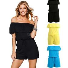 Sexy Women's Bandage Bodycon Short Sleeve Clubwear Romper Jumpsuit Playsuit I3K1
