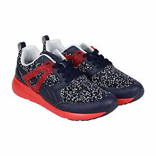 Puma Arial Splatter Mens Blue Red Textile Lace Up Sneakers Shoes