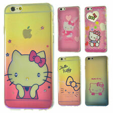 Hello Kitty Chrome Ultra-Thin TPU Bling Case Bumper for  Apple iPhone 6 6S 4.7''