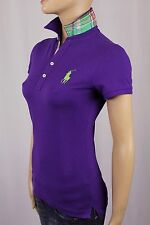Ralph Lauren Sport Purple Big Pony Plaid Polo Shirt NWT