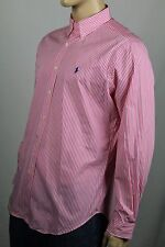 Ralph Lauren Pink White Striped Classic Dress Shirt Blue Pony NWT