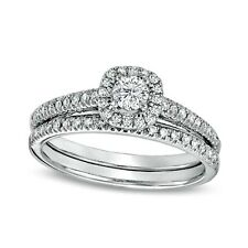Sterling Silver Wedding set size 10 CZ Round cut Engagement Ring Bridal New z22