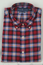 Ralph Lauren Red Blue White Classic Dress Shirt Navy Pony NWT