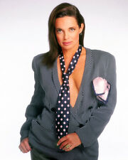 Linda Gray Busty Sexy Glamour Photo Shoot Open Shirt & Tie Poster or Photo
