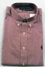 Ralph Lauren Red White Striped Classic Dress Shirt Blue Pony NWT