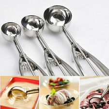 Stainless Steel Ice Cream Spoon Spring Handle Cookie Masher Handle Potato Scoop