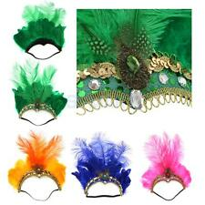 Feather Fascinator Flapper Headband Elastic Head Band Fancy Dress Party