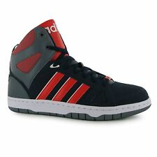 Adidas Hoops Team Mid Top Trainers Mens Navy/Red/White Casual Sneakers Shoes