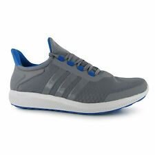 Adidas Climachill Sonic Bounce Running Shoes Mens Grey/Blue Trainers Sneakers