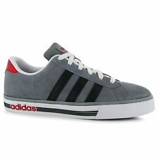 Adidas Daily Team Suede Trainers Mens Grey/Black/Red Casual Sneakers Shoes