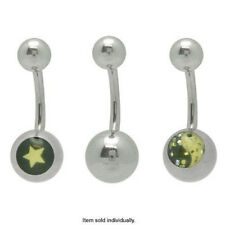 Star and Ying Yang Logo Belly Ring