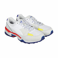 Puma Mcq Tech Runner Lo White Mens White Leather Athletic Running Shoes