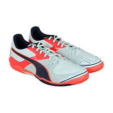 Puma Invicto Sala Mens White Suede & Leather Athletic Lace Up Training Shoes