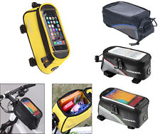 ROSWHEEL Cycling Bike Bicycle Panniers Frame Front Tube Touch Screen Bag Pouch