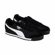 Puma Roma Ripstop & Suede Mens Black Suede Lace Up Sneakers Shoes