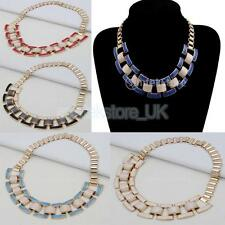 Fashion Punk Women Chunky Chain Bid Statement Collar Choker Necklace Jewelry