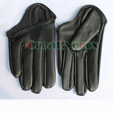 Leather Half palm Performances Singer Punk JAZZ Pole Dancing gloves Full Finger
