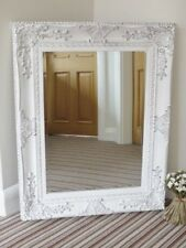 large mirror, shabby chic, traditional, ornate detail